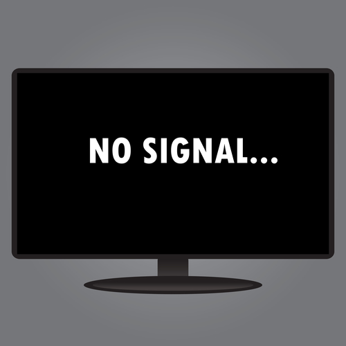 No signal on a monitor while starting a computer: what has