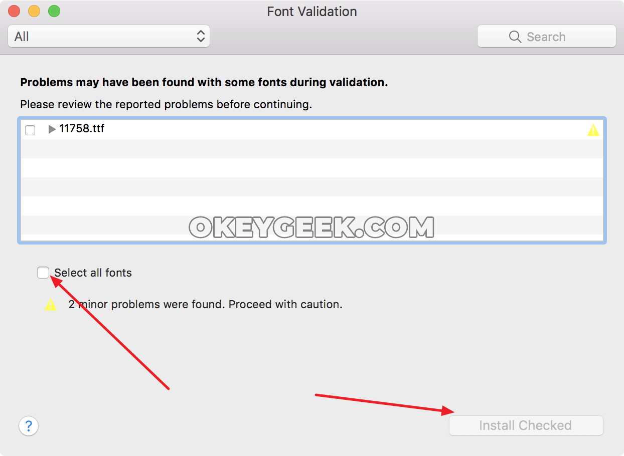 How to install or remove a font in Mac OS: rules and