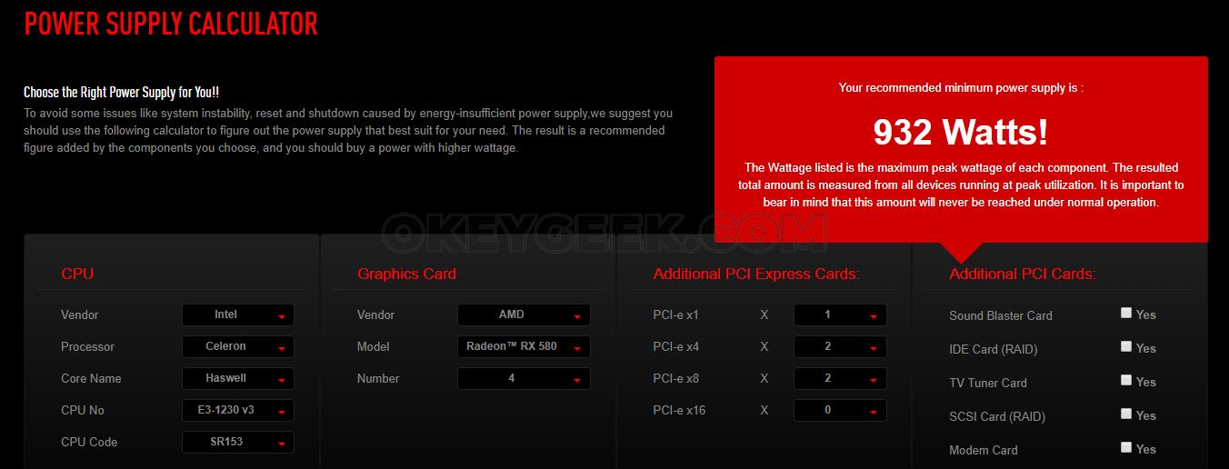 Power supply calculator | newegg. Ca.