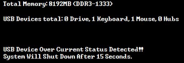 usb over current error mac