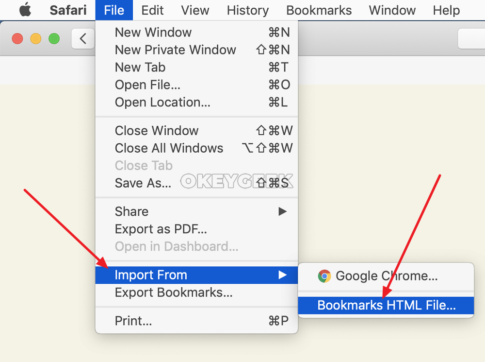 How to transfer bookmarks from Safari to Chrome and back