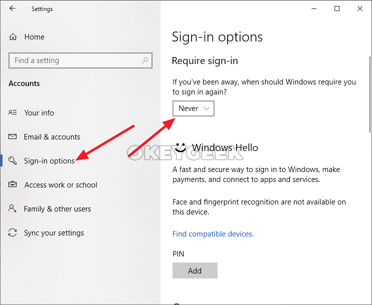 Instructions: How to disable a password while entering Windows 10